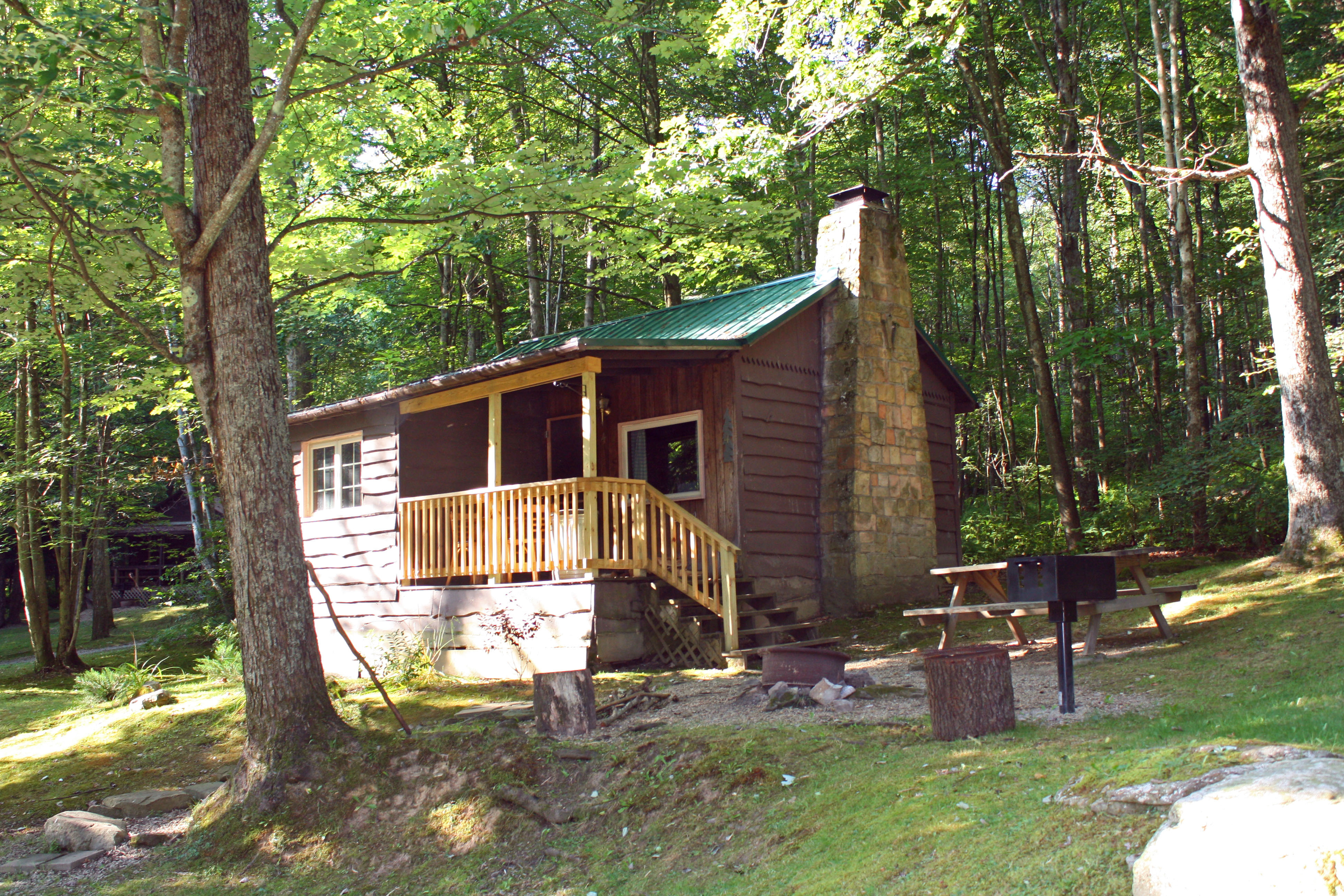 dsc creek pa in on cabins spruce farms cheap rentals evergreen fishing s fly cabin harpster